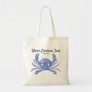 Cool Vintage Nautical Blue Crab Custom Beach
