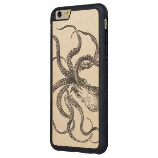 Cool Vintage Octopus Sea Animal Ocean Life Aquatic Carved® Maple iPhone 6 Plus Bumper Case