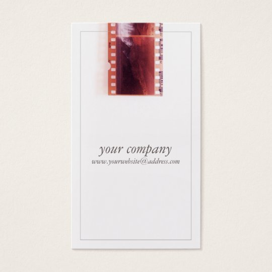 Cool Vintage Photographer Camera Film Business Card