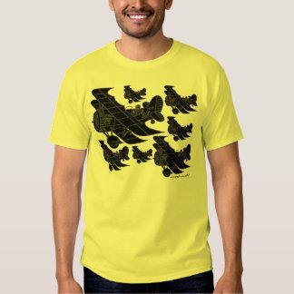Cool vintage planes graphic art t-shirt design