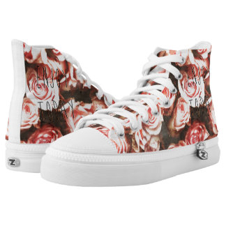 """Cool vintage roses """"Enjoy Today"""" High Tops"""