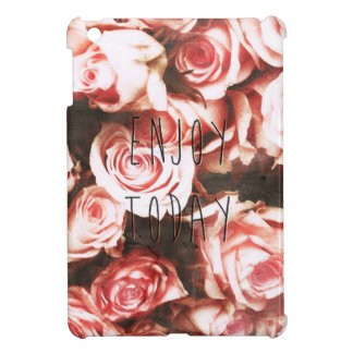 "Cool vintage roses ""Enjoy Today"" iPad Mini Case"