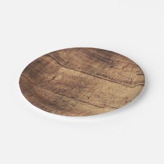 cool vintage scratched wood texture 7 inch paper plate