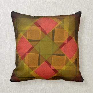 Cool vintage squares pattern cushion