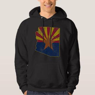 Cool Vintage State of Arizona Flag Outline Hoodie