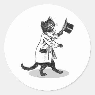 Cool Vintage Top Hat Cat Sticker