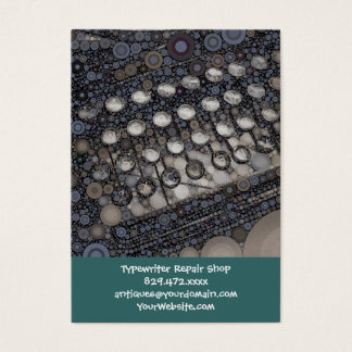 Cool Vintage Typewriter Modern Design Pop Art Business Card