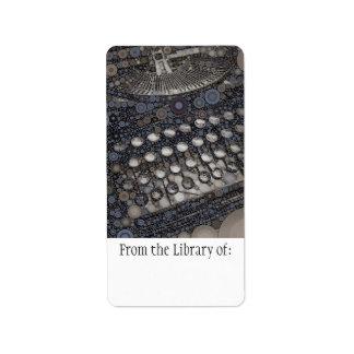 Cool Vintage Typewriter Modern Design Pop Art Label