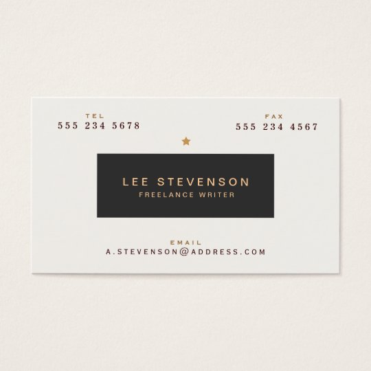 Cool Vintage Typography Black and White Business Card