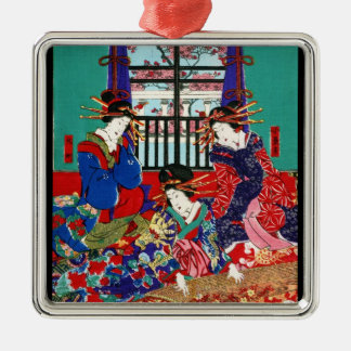 Cool vintage ukiyo-e japanese beautiful ladies christmas ornament