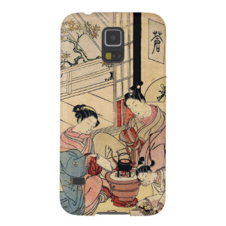 Cool vintage ukiyo-e japanese ladies and child galaxy s5 cases