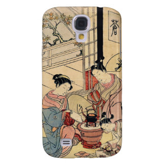 Cool vintage ukiyo-e japanese ladies and child galaxy s4 case