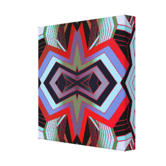 Cool Vintage Vibes Geometric Canvas Print