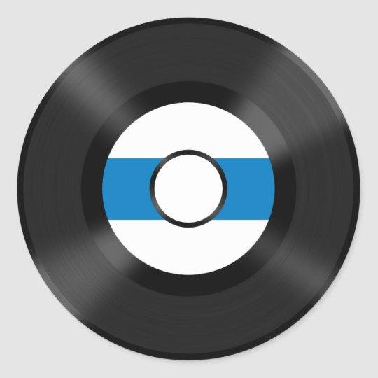 Cool Vinyl record music fun sticker