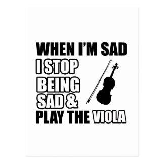 Cool Viola designs Post Cards