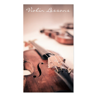 Cool Violin / Violinist Photograph - Business Card Business Card Template