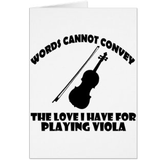 cool violist designs greeting card
