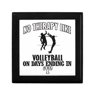 cool Volleyball DESIGNS Small Square Gift Box