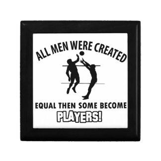 cool volleyball player design trinket box