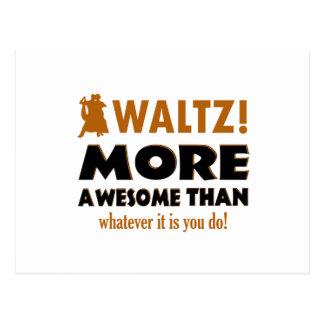Cool Waltz designs Postcard