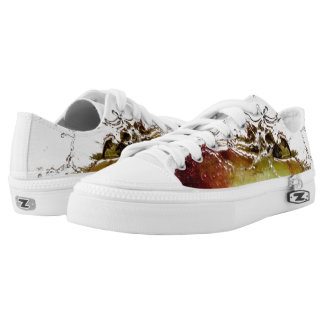 Cool water drop splash on apple low tops