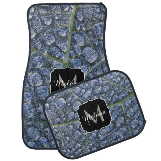 Cool water drops dew texture leaf Monogram Car Mat