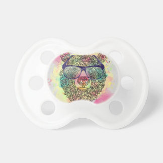 Cool watercolor bear with glasses design dummy
