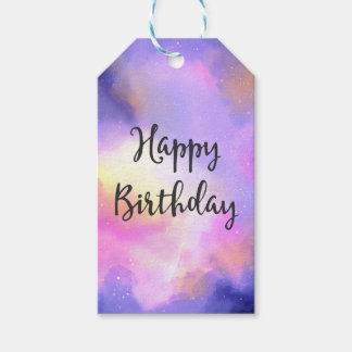 Cool Watercolor Design - Surreal Clouds Birthday