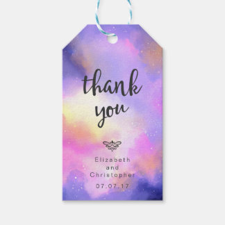Cool Watercolor Design - Surreal Clouds Thank You