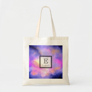 Cool Watercolor Design with Surreal Clouds Tote Bag