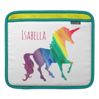 Cool Watercolor Rainbow Unicorn Kids Beautiful iPad Sleeves