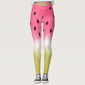 Cool watercolor watermelon leggings