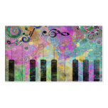 Cool watercolours splatters colourful piano business cards