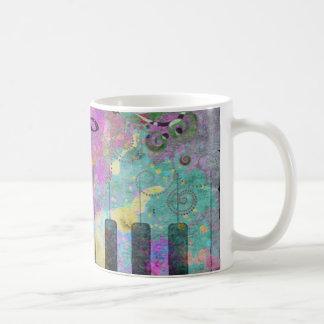 Cool watercolours splatters colourful piano mugs