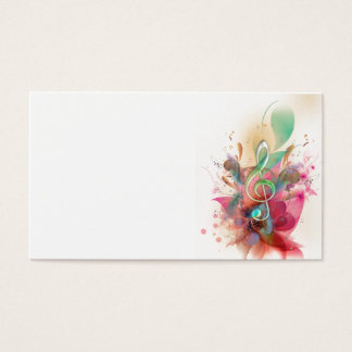 Cool watercolours treble clef music notes swirls