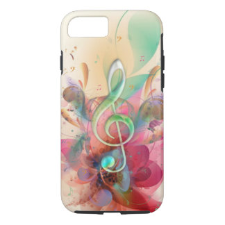 Cool watercolours treble clef music notes swirls iPhone 8/7 case