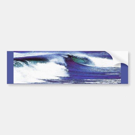 Cool Wave Bumper Sticker