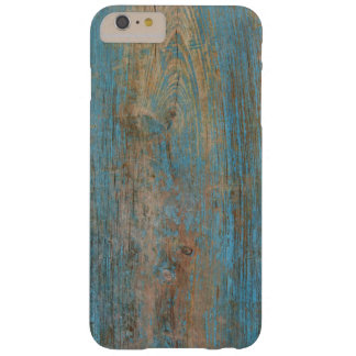 Cool Weathered Blue Peeling Paint Wood Texture Barely There iPhone 6 Plus Case