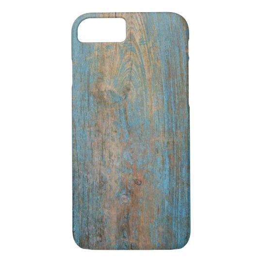 Cool Weathered Blue Peeling Paint Wood Texture iPhone