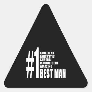 Cool Wedding Favors Number One Best Man Sticker