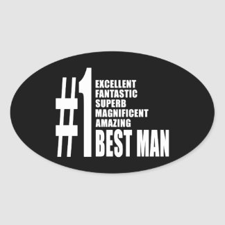 Cool Wedding Favors : Number One Best Man Oval Sticker