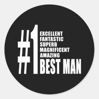 Cool Wedding Favors : Number One Best Man Round Sticker