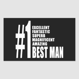 Cool Wedding Favors Number One Best Man Rectangle Sticker
