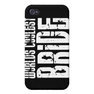 Cool Weddings Bridal Showers Worlds Coolest Bride iPhone 4/4S Cases