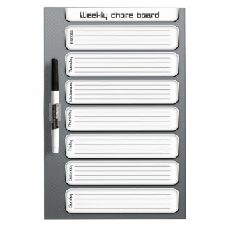 Cool weekly chore list dry erase board