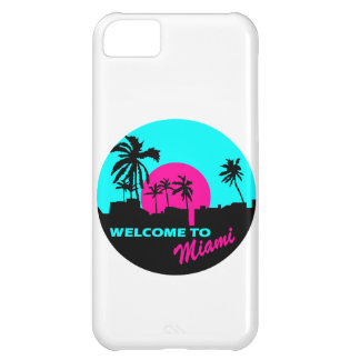 Cool Welcome to Miami design Case For iPhone 5C