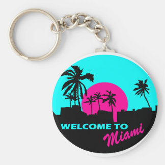 Cool Welcome to Miami design Key Ring