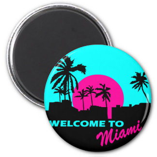 Cool Welcome to Miami design Magnet