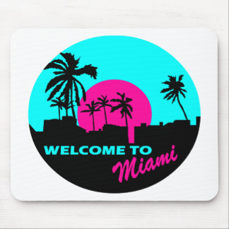 Cool Welcome to Miami design Mouse Mat