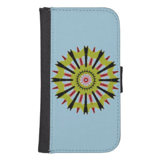 Cool wheel shape pattern samsung s4 wallet case